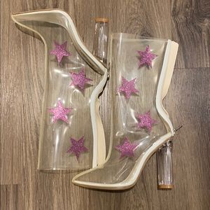 Clear Booties with Stars